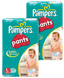 Pampers Diaper Pants - L 52 pieces Combo Pack of 2
