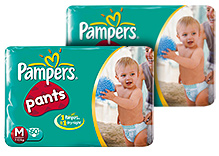 Pampers Diaper Pants - M 60 pieces Combo Pack of 2