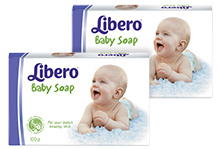 Libero Baby Bar Soap - 100 gm pack of 2