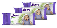 Libero Baby Wet Wipes 20 Pieces-Pack of 3