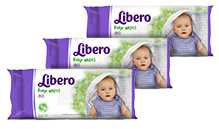 Libero Baby Wet Wipes 80pcs-pack of 3