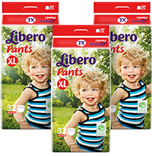 Libero Pant Style Diaper Extra Large - 32 Pieces Pack of 3
