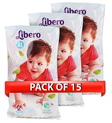Libero Baby Open Diaper Extra Large - 2 Pieces - Pack of 15