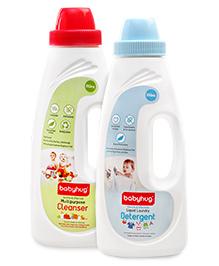 Babyhug Liquid Laundry Detergent - 550 ml and Babyhug Liquid Multi Purpose Cleanser - 550 ml - Pack of 2