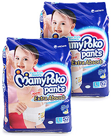 Mamy Poko Pants Pant Style Diapers Large - 52 Pieces - Pack of 2