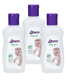 Libero Baby Oil - 100 ml - Pack of 3