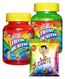 Super Gummy Vitamin B12 and C Gummies In A Pouch - 50 Pillow Packs AND Super Gummy Total Health Calcium Plus Vitamin D3 - 30 pieces AND Super Gummy Total Health Multi Vitamin Formula - 30 Pieces Pack of 3