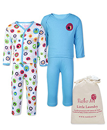 Morisons Baby Dreams Blue Full Sleeves T Shirt And Leggings - Set Of Two and Rustic Art Little Laundry Powder - 500 gm