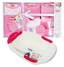 Baby Bather with Fisher-Price Layette Gift Set (Set of 14)