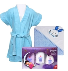 Baby Bath essential with Johnson's - Baby Bedtime Combo (Set of 3)