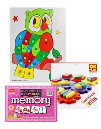 Educational Games Combo 2 to 4 Years (Set of 3)