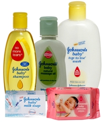 Johnson & Johnson Baby Bathing Time Combo (Set of 5)