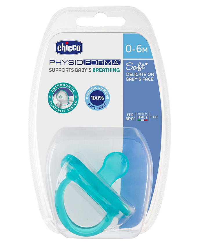 Chicco Physio Soft Silicone Orthodontic Soother Blue - 1 Piece