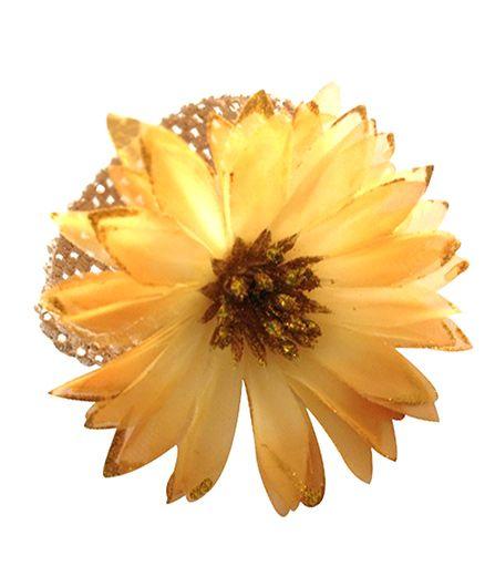 Akinos Kids Sunflower Crochet Headband - Yellow