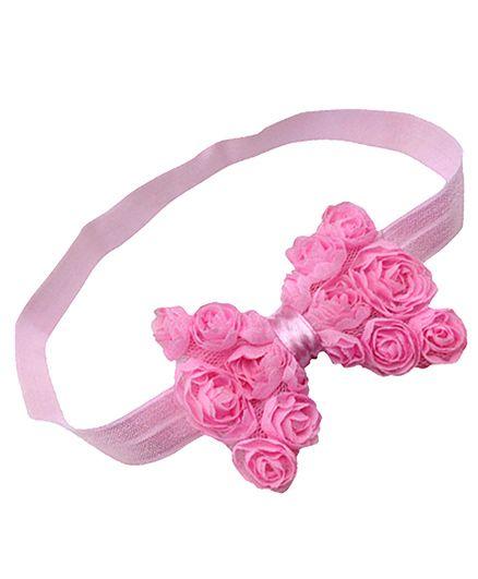 Akinos Kids Floral Bow Headband - Pink