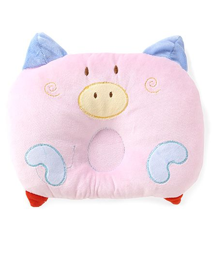 Adore Baby Neck & Head Support Pillow Piggy Design (Color May Vary)