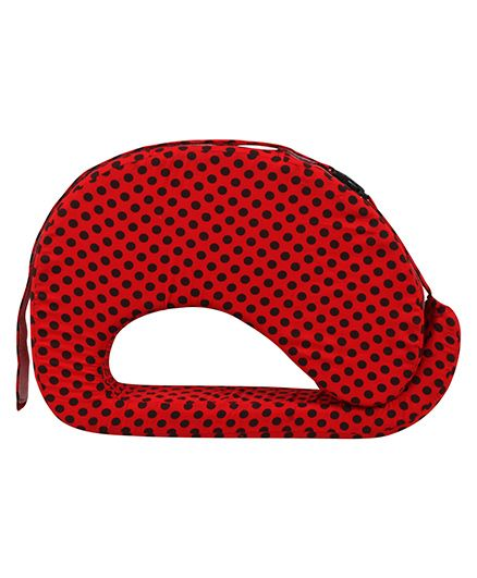 Get It Feeding Pillow Polka Dots - Red