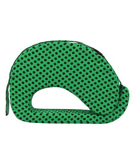 Get It Feeding Pillow Polka Dots - Green