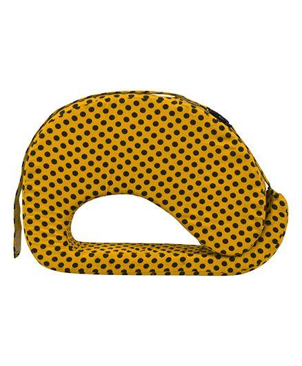 Get It Feeding Pillow Polka Dots - Yellow