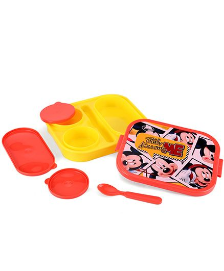 Disney Mickey Mouse Lunch Box Yellow And Red Best Deals