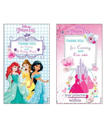 Disney Princess Thankyou Cards - Pack of 10