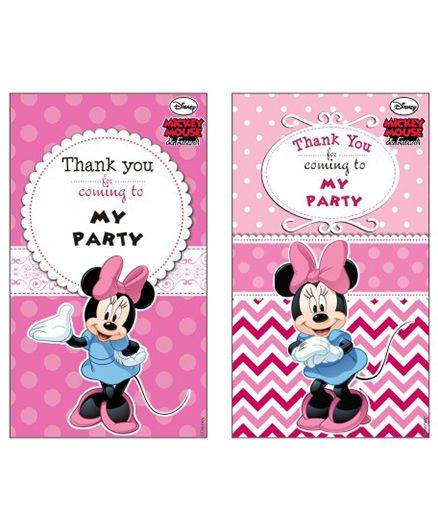 Disney Minnie Mouse Thankyou Cards - Pack of 10