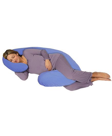 Comfeed Pillows By Nina C Pregnancy Pillow - Light Blue