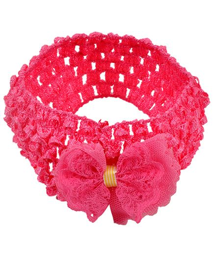 Miss Diva Head Wrap With Bow - Magenta