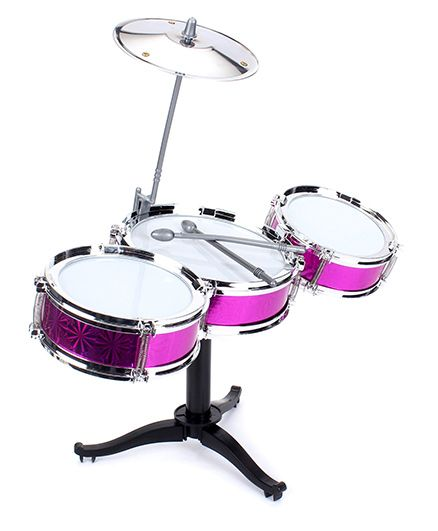 Playmate Flash Music Jazz Drum Set - Pink