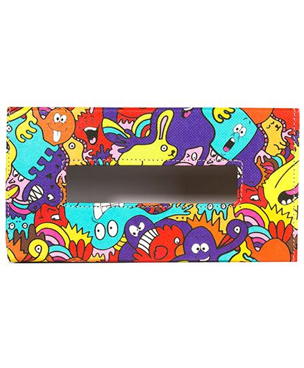 The Crazy Me Monster Colorful Tissue Box Holder - Muticolour