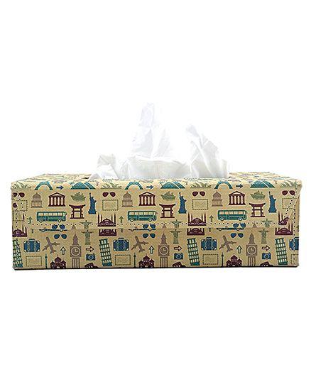 The Crazy Me Retro Travel Tissue Box Holder - Muticolour