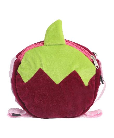 Hello Toys Fruit Shaped Sling Bag Purple - 7 Inches