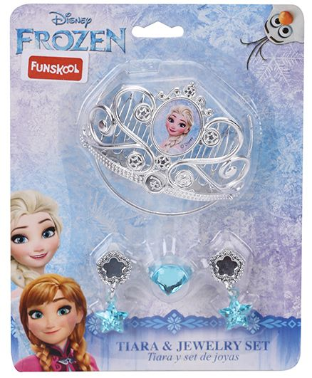 Disney Frozen Funskool Tiara And Jewellery Set Silver - 4 Pieces