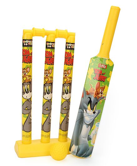 Tom And Jerry Cricket Set - Yellow