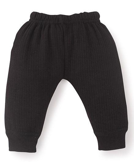 Bodycare Self Stripe Design Thermal Legging - Black
