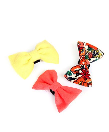Pigtails & Ponys Summer Love Bow Clips - Multicolour