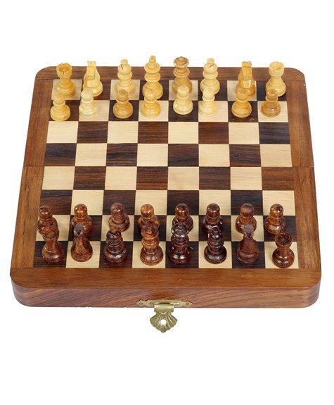 Desi Toys Wooden Chess - Brown