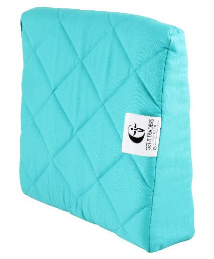 Get It Wedge Pregnancy Pillow With Quilted Cover - Blue