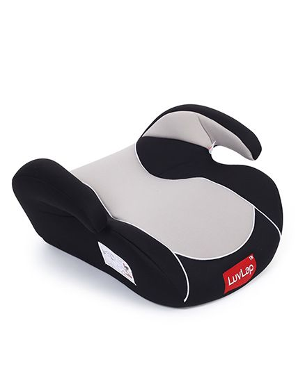 LuvLap Backless Booster Baby Car Seat Grey - 18229