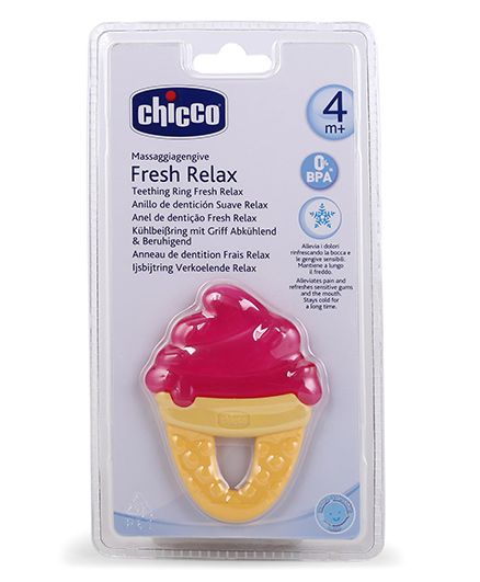 Chicco Fresh Relax Ice Cream Teether - Multicolor