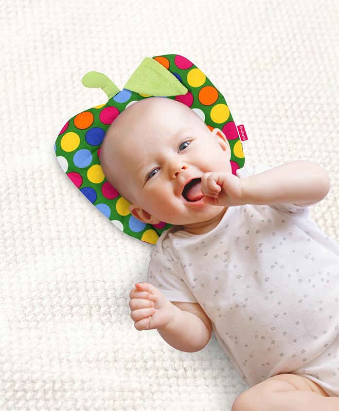 Babyhug Fruit Shape Filling Pillow Polka Dots - Green