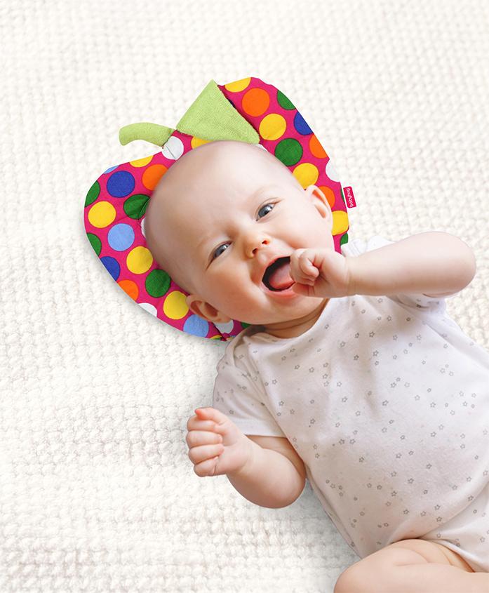Babyhug Fruit Shape Filling Pillow Polka Dots - Pink