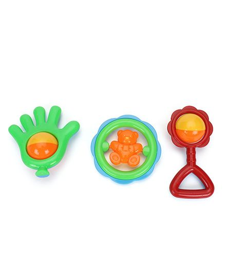 Smiles Creation Rattle Set Toys Assorted Colors - Pack of 3