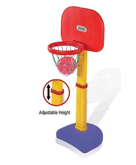 Gro Kids Adjustable Basket Ball Set - Red Blue Red