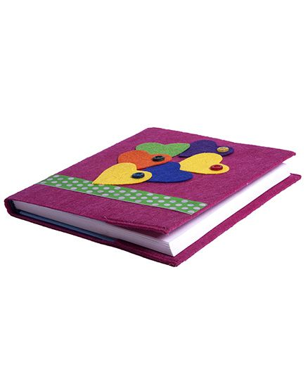 Lill Pumpkins Multiple Hearts Diary - Fuchsia