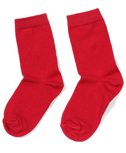 Mustang Solid Color Socks - Red