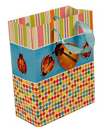 Partymanao Lady Bug Paper Bag - Yellow Blue