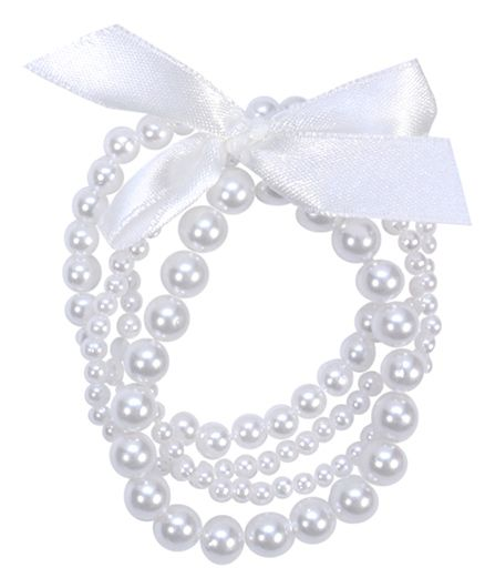 Miss Diva Pearls Beads Bracelet - White
