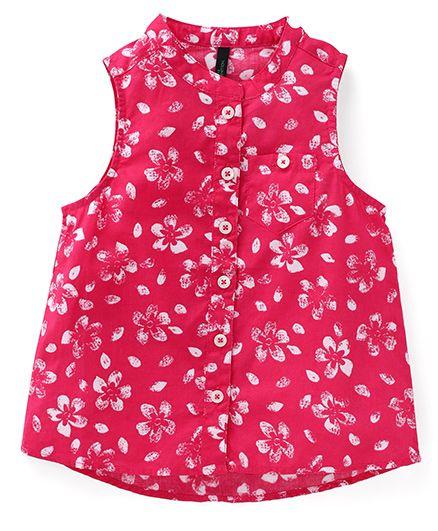 UCB Sleeveless Printed Top - Pink