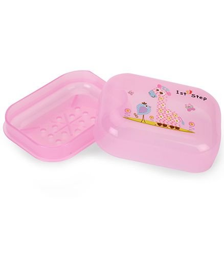 1st Step Soap Box Cartoon Animal Print - Pink